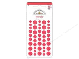 Doodlebug Dimensional Stickers: Doodlebug Stickers Large Jewels Ladybug