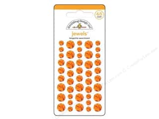 Doodlebug Sticker Large Jewels Tangerine