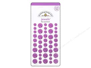 Doodlebug Sticker Large Jewels Lilac