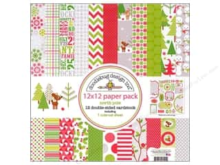 Doodlebug Paper Pack 12&quot;x 12&quot; North Pole