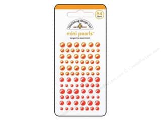 Jewelry Making Supplies Doodlebug Sticker: Doodlebug Pearls Mini 84 pc. Tangerine