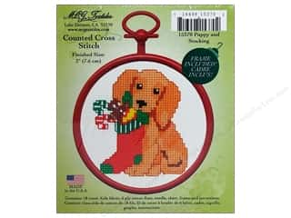 M.C.G Counted Cross Stitch Kit Mini Puppy/Stocking