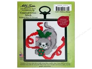 M.C.G Counted Cross Stitch Kit Mini Ribbon Kitty