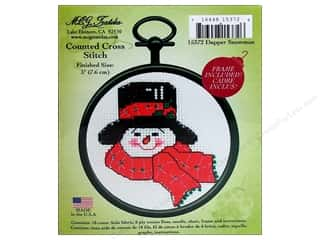 M.C.G Counted Cross Stitch Kit Mini Dapper Snowman