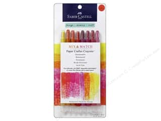 Drawing Papers: FaberCastell Mix Match Paper Crafter Crayon Mix & Match Set Red/Yellow