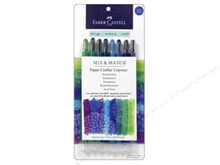Drawing Papers: FaberCastell Mix Match Paper Crafter Crayon Mix & Match Set Blue/Green