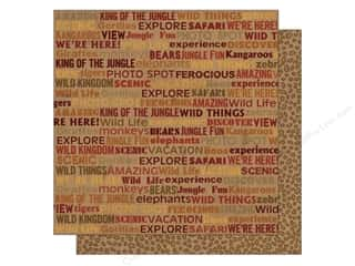 2013 Crafties - Best Adhesive: Best Creation 12 x 12 in. Paper Wild Life Word (25 piece)
