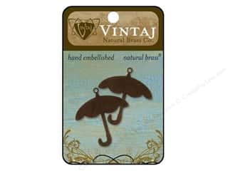 Vintaj Blanks Umbrella Natural Brass 2pc