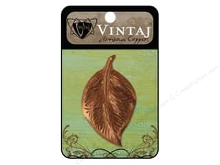 Vintaj Findings: Vintaj Charm Mission Leaf Artisan Copper