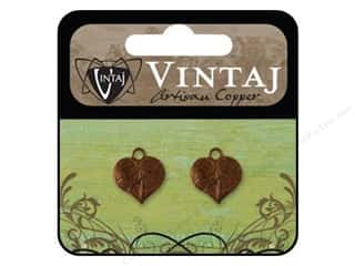 Vintaj Charm Teensie Nouveau Leaf Art Copper