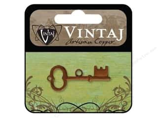 Vintaj Charm Archival Key Artisian Copper