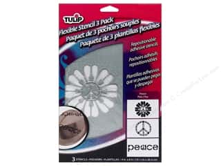 Tulip Fabric Stencil Flexible Peace