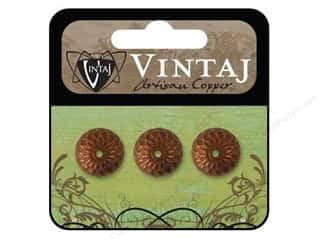 Vintaj Bead Cap Acorn 12.5mm Artisian Copper 3pc