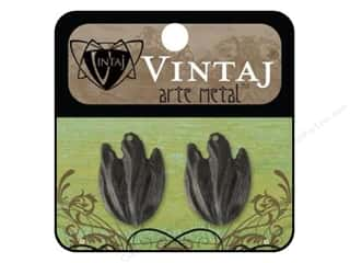 Vintaj Vintaj Findings: Vintaj Charm Flourish Petal Arte Metal 2pc