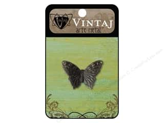 Charms Black: Vintaj Charm Summer Azure Butterfly Arte Metal