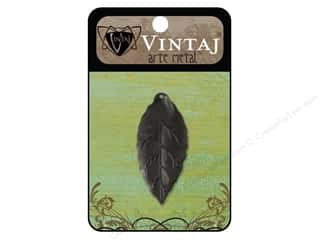 Charms Black: Vintaj Charm Bay Leaf Arte Metal