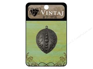 Vintaj Charm Open Pea Pod Arte Metal