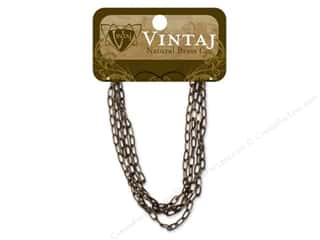 "Vintaj Finding Chain 24"" Flat Link 4.5mm Nat Brass"