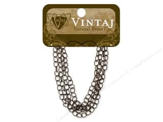 "Vintaj Finding Chain 24"" Fine Oval 4.5mm Nat Brass"