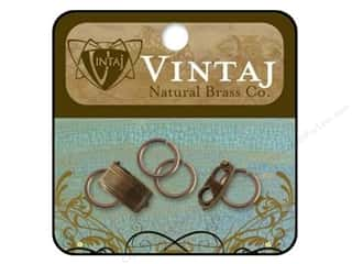 Clearance Blumenthal Favorite Findings: Vintaj Finding Clasp Bracelet Foldov Nat Brass 2pc