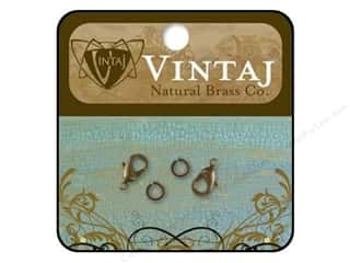 Vintaj Finding Clasp Lobster 9.5mm Nat Brass 2pc