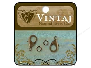 Vintaj Finding Clasp Lobster 15mm Nat Brass 2pc