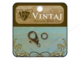 Vintaj Finding Clasp Lobster 22.5mm Nat Brass