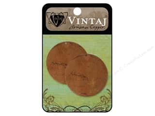 Vintaj Blanks Circle Large Artisian Copper 2pc