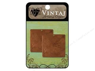 Vintaj Blanks Square Large Artisian Copper 2pc
