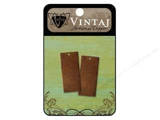 Vintaj Blanks Rectangle Large Artisian Copper 2pc