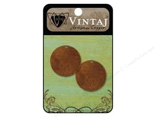 Vintaj Blanks Circle Small Artisian Copper 2pc