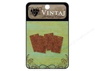 Vintaj Blanks Rectangle Artisian Copper 4pc