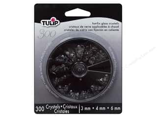 Rhinestones Sewing & Quilting: Tulip Hot Fix Crystal Value Pack Loose Assorted Size Clear 300pc