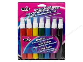 Weekly Specials Glass Painting: Tulip Fabric Spray Paint Pack Card Rainbow 7pc