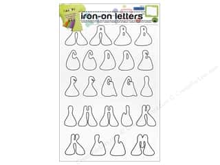 Irons Clearance: Color-In Iron-on Letters Hippie by Dritz Clear/Black