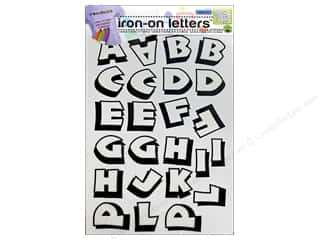 Irons Clearance: Color-In Iron-on Letters Punch by Dritz Clear/Black