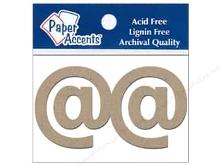 "Paper Accents Chip Shape Punctuation 2"" @ 2pc Natural"