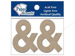 "Weekly Specials DieCuts Box of Cards: Paper Accents Chipboard Shape Punctuation ""&"" 2 in. 2 pc. Kraft"