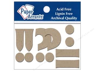 "Paper Accents Chip Shape Punctuation 2"" 2ea !?-. Natural"