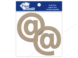 "Boards $2 - $4: Paper Accents Chipboard Shape Punctuation ""@"" 4 in. 2 pc. Kraft"