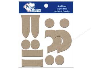 "Paper Accents Chip Shape Punctuation 4"" 2ea !?-. Natural"