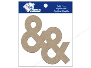 "Paper Accents Paper Die Cuts / Paper Shapes: Paper Accents Chipboard Shape Punctuation ""&"" 4 in. 2 pc. Kraft"