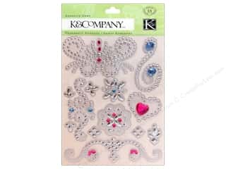 K&amp;Co Adhesive Embellishments SW Floral Swirl