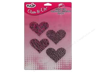 Tulip Iron On Glam It Up Fashion Design Large Hearts
