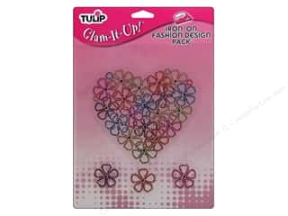 Irons Clearance: Tulip Iron On Glam It Up Fashion Design Large Flower Heart