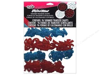 Glitter ABC & 123: Tulip Fashion Glitter Shapes Red/Blue 96pc