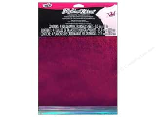 Tulip Basic Components: Tulip Fashion Glitter Sheet 8.5 x 11 in. Fuchsia/Turquoise/Iridescent