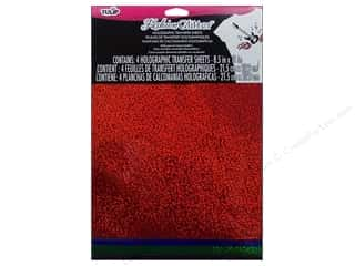Tulip Basic Components: Tulip Fashion Glitter Sheet 8.5 x 11 in. Red/Blue/Green/Black