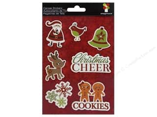 Imaginisce Christmas: Imaginisce Stickers Christmas Cheer Canvas