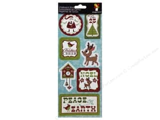 Imaginisce Dimensional Stickers: Imaginisce Stickers Christmas Cheer Chipboard Peace On Earth